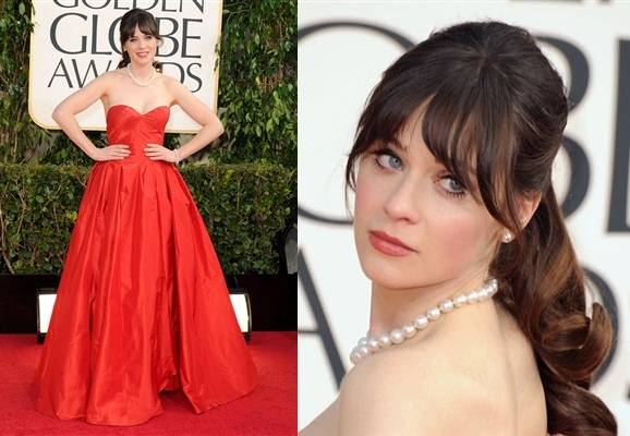 golden-globe-2013-zooey-deschanel